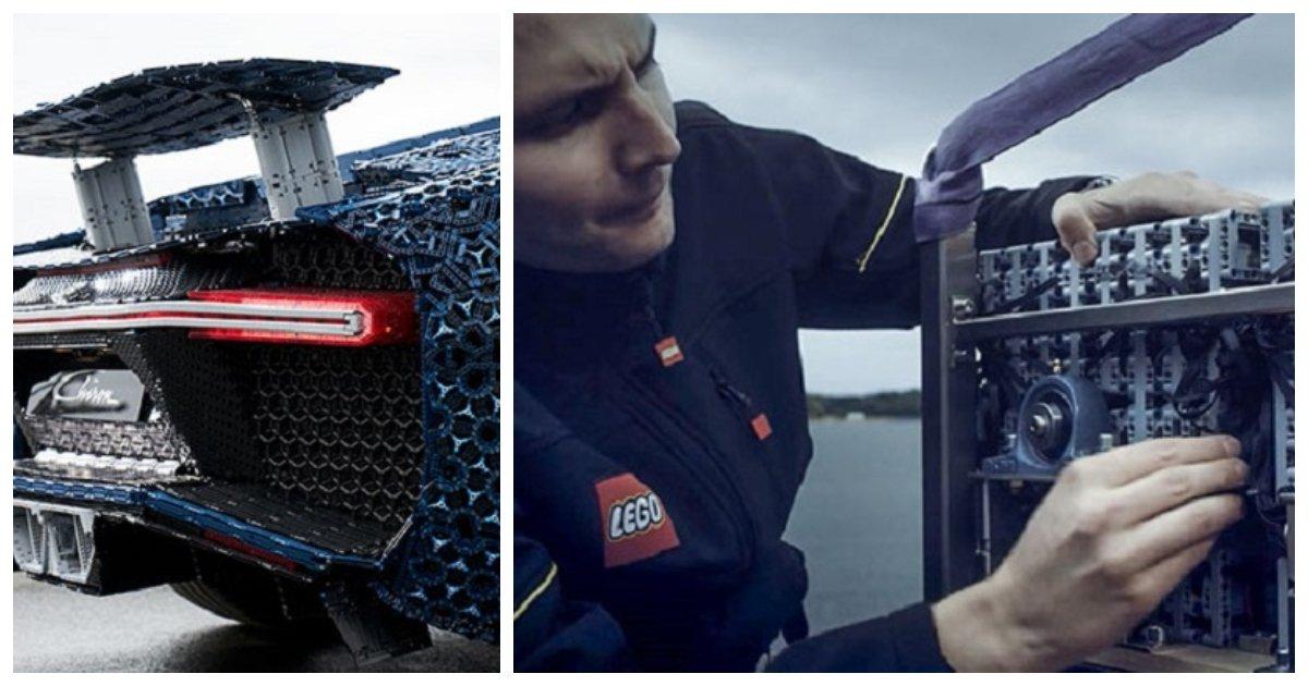 car.jpg?resize=412,232 - Il a fallu plus d'un million de briques Lego pour construire une réplique  de la Chiron Bugatti à grande échelle!