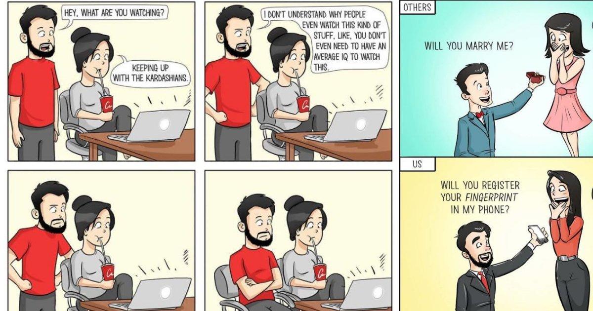 comics.png?resize=648,365 - Esse cara ilustrou como é viver com a sua namorada - e o resultado ficou hilário!