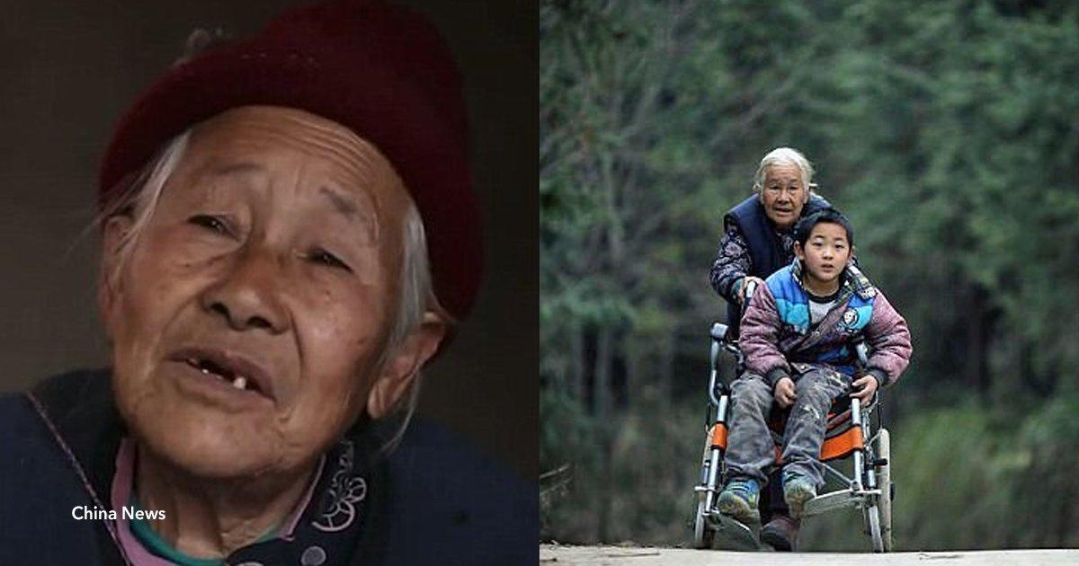 cover22 20.png?resize=1200,630 - Essa vovó caminha 24 km por dia para levar seu neto em uma cadeira de rodas para a escola