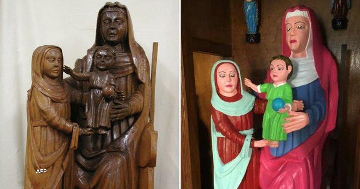"""cover22 22.png?resize=648,365 - """"No fue una restauración, fue una venganza"""": Mujer pinta tres figuras de madera del siglo XV y las arruina por completo"""