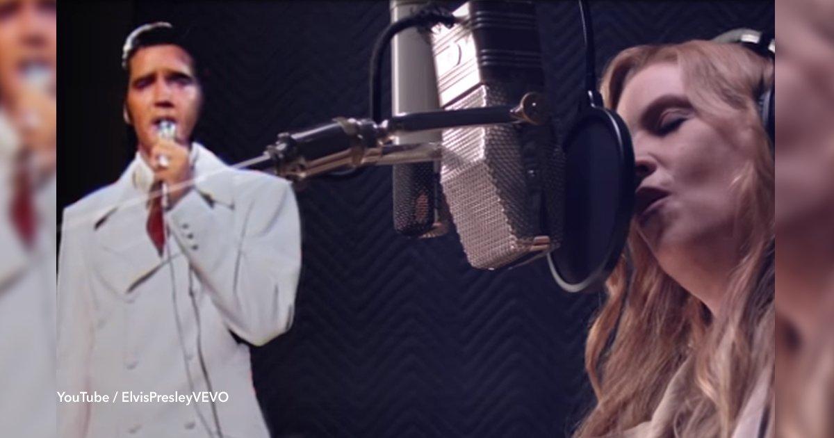 cover22 25.png?resize=648,365 - Em novo vídeo liberado, Elvis Presley canta com sua filha Lisa Marie e está fazendo todo mundo chorar
