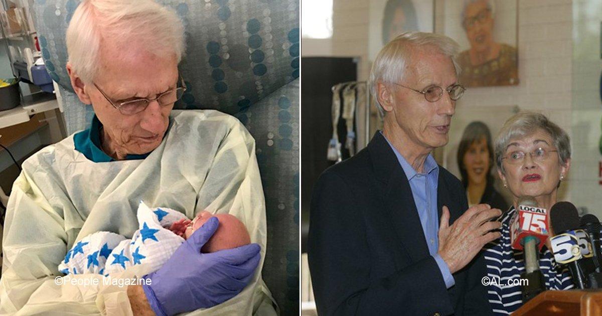 cuddler.jpg?resize=300,169 - Un hombre de 81 años donó un millón de dólares a un hospital infantil, además es voluntario cuidando bebés