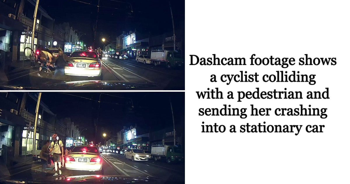 cyclist crash woman.jpg?resize=636,358 - This Video Of A Cyclist Colliding With A Woman Crossing The Road Has Divided The Internet
