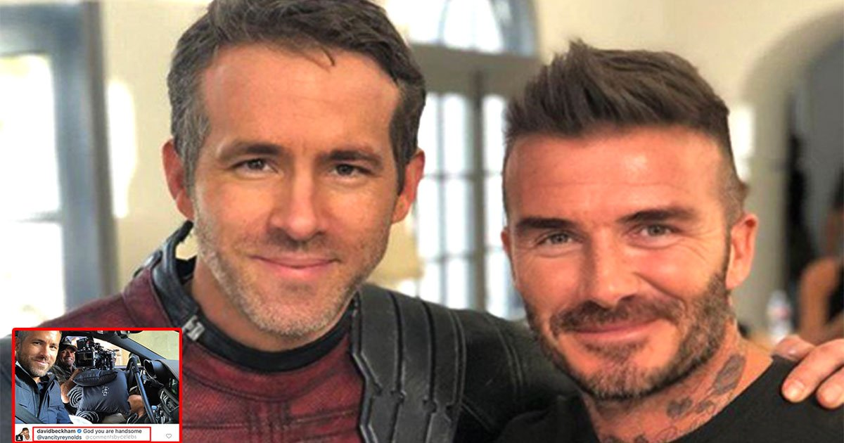 david beckham crushes on ryan reynolds as he called him handsome on instagram.jpg?resize=636,358 - David Beckham Crushes On Ryan Reynolds As He Called Him Handsome On Instagram
