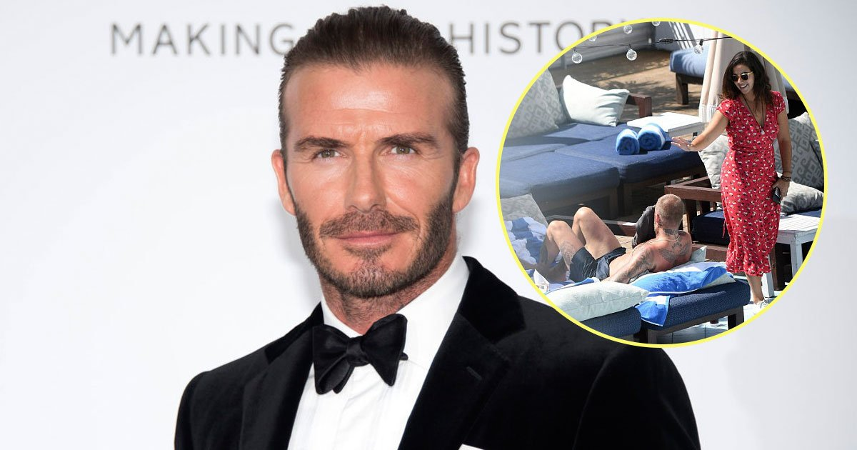 davide beckham.jpg?resize=636,358 - David Beckham Spotted Chatting With A Brunette In Miami