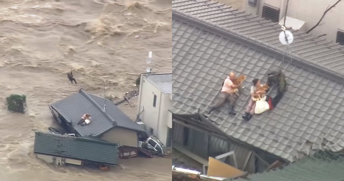 dogs 2.png?resize=636,358 - Couple Risk Their Own Lives As They Refuse To Let Go Of Pet Dogs During Disastrous Flood