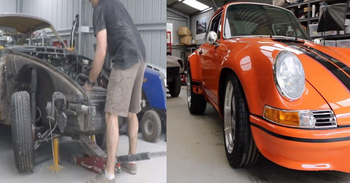 ecb0a8.jpg?resize=648,365 - Man Transforms Scrapped Car Into A Brand New ..... Porsche!