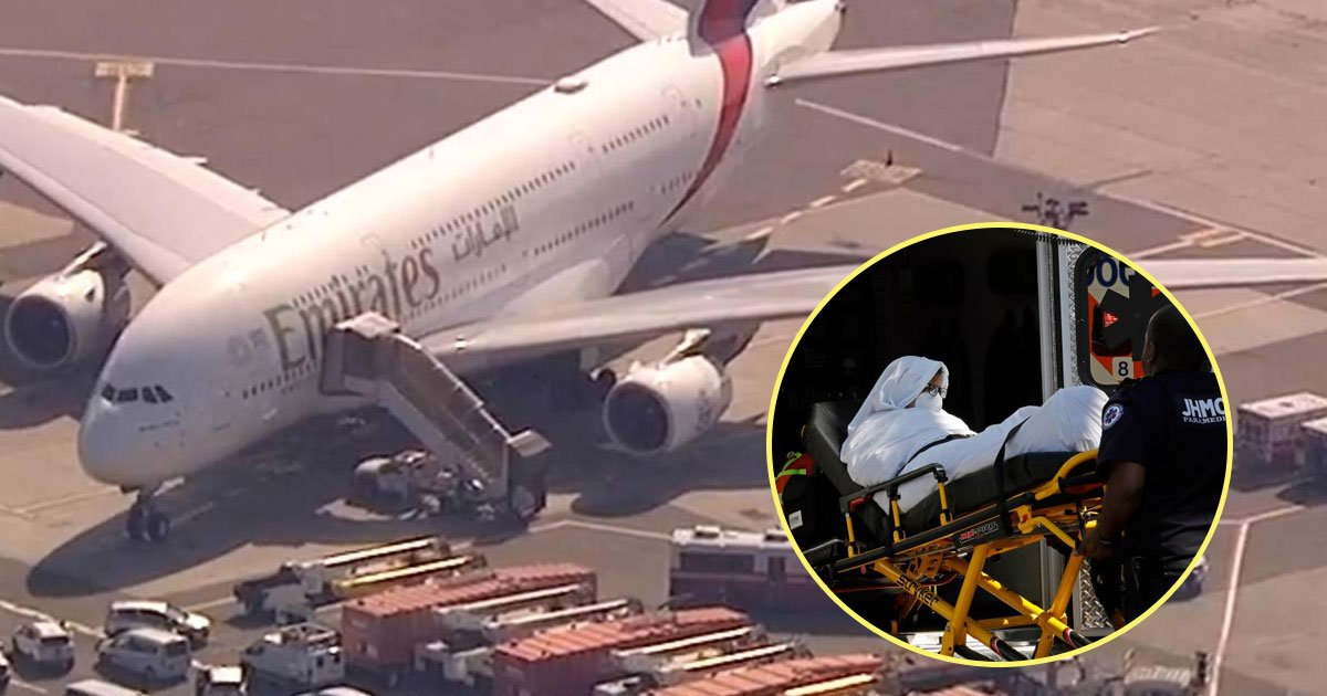 emirate plane.jpg?resize=636,358 - Emirates Plane Quarantined At JFK Airport After 100 Passengers Fell ILL On Board