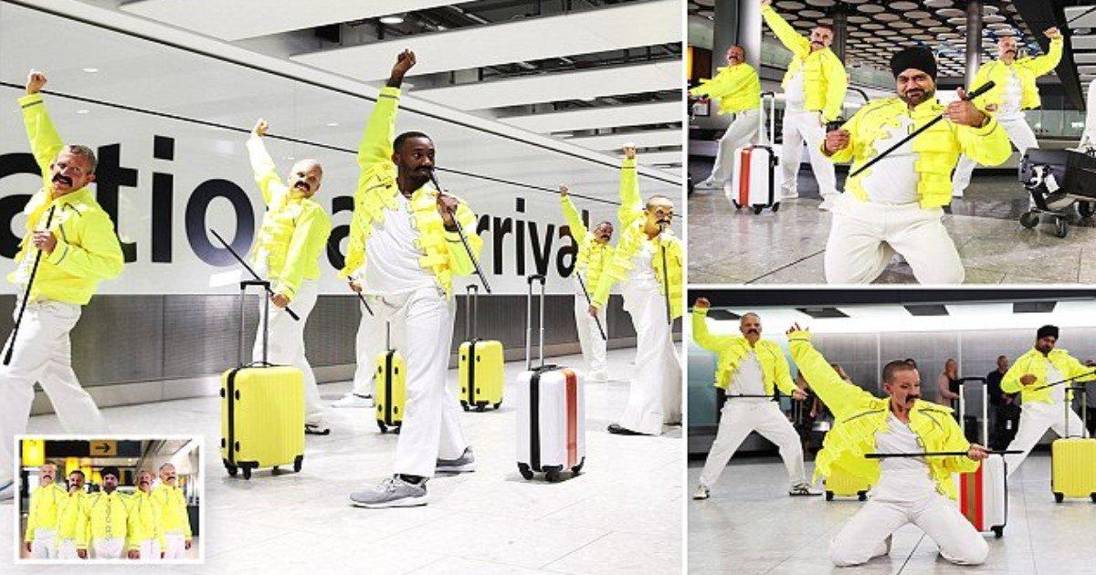 featured image 26.jpg?resize=412,275 - Funcionários da British Airways pagam tributo a Freddie Mercury que trabalhava como manipulador de bagagem antes de sua ascensão meteórica à fama
