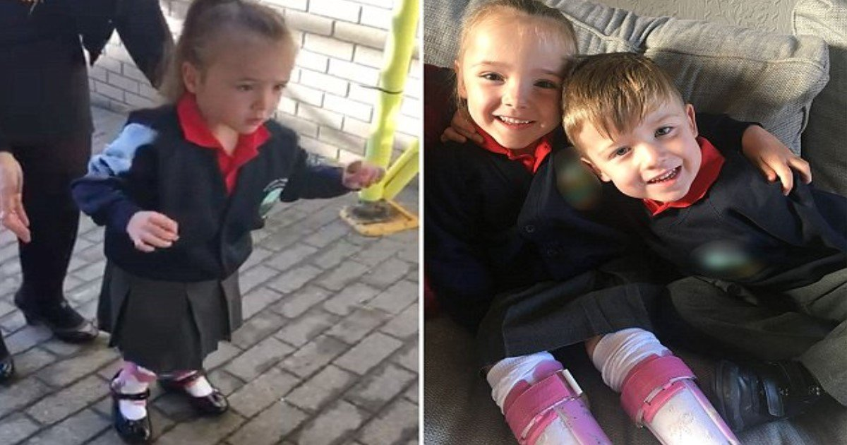 featured image 30.jpg?resize=412,232 - Heartwarming Moment Little Girl With Cerebral Palsy Takes Her First Steps With Encouragement From Her Devoted Twin Brother