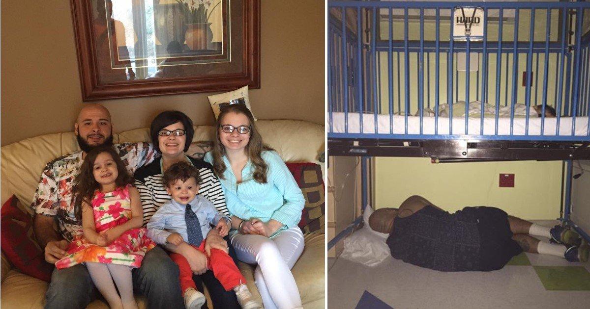featured image 38.jpg?resize=1200,630 - La photo de ce papa endormi sous le lit d'hôpital de son fils est devenue virale. Découvrez pourquoi.