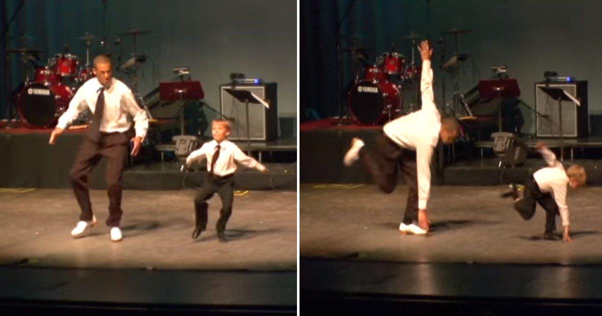 featured image 39.jpg?resize=412,275 - Show de sapateado: prodígio de 6 anos de idade dança com dançarino experiente em momento inesquecível