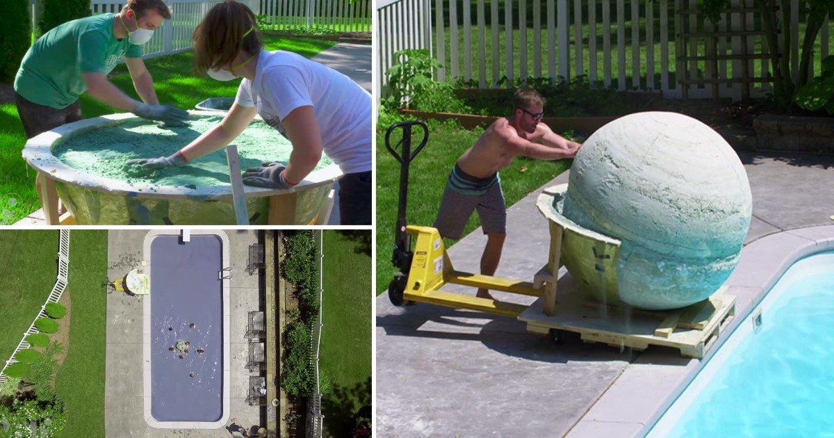 featured image 51.jpg?resize=648,365 - Grupo de amigos fazem a maior bomba de banho do mundo -- Veja o momento em que eles a jogam na piscina