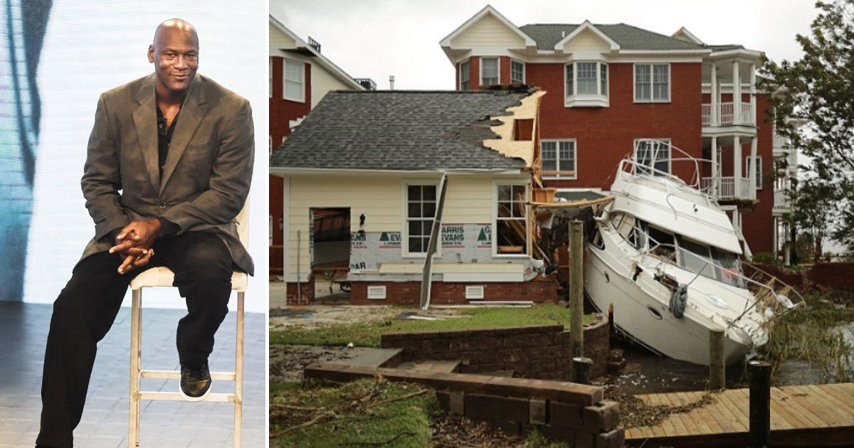 featured image 57.jpg?resize=1200,630 - Michael Jordan Donates $2M After Seeing His Hometown Of Wilmington, NC, Ravaged By Hurricane Florence