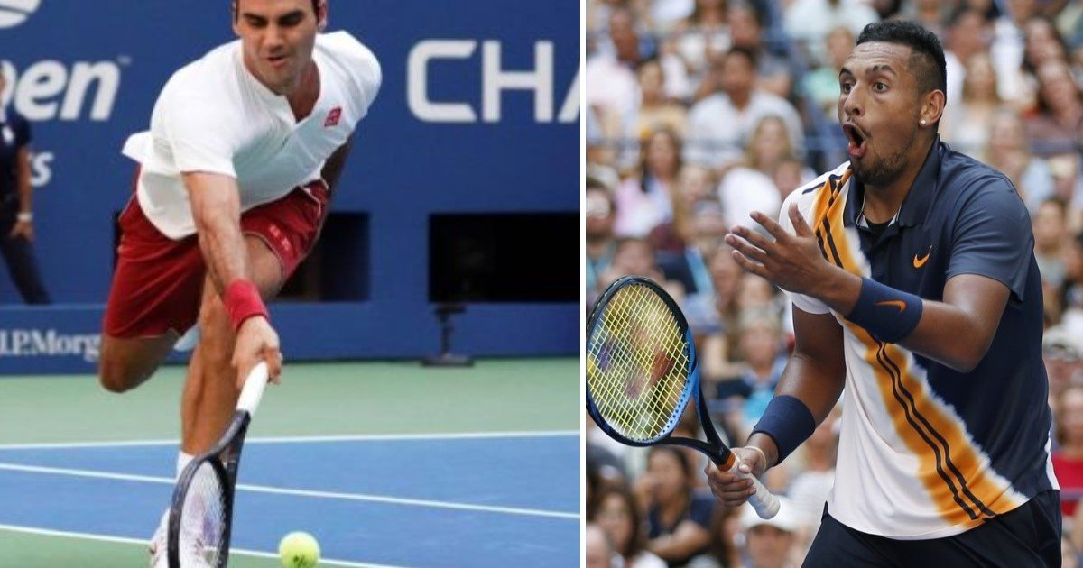 featured image 7.jpg?resize=636,358 - Nick Kyrgios Left Open-Mouthed As Roger Federer Hits 'Almost Unreal' Shot Against Him In The US Open
