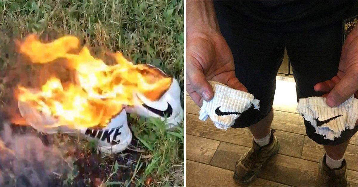 fgg 3.jpg?resize=1200,630 - Propaganda da Nike com Colin Kaepernick causa revolta e clientes queimam roupas em protesto contra o polêmico ex-jogador da NFL