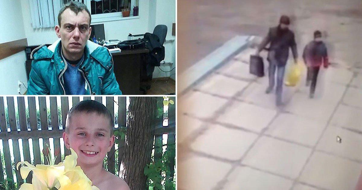 final moments.jpg?resize=648,365 - Les tragiques derniers moments d'un garçon de 10 ans attaqué par un pédophile russe filmés par des caméras de surveillance.