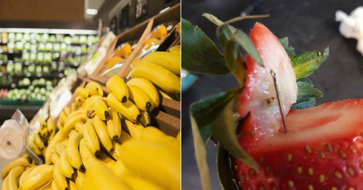 fruit crisis.jpg?resize=412,232 - Police Finds Metal Object Hidden Inside Banana Imported From Australia - Nervousness Spikes Right After The Strawberry Incident
