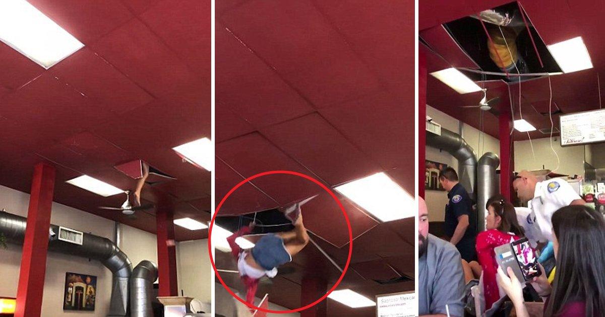 gaa.jpg?resize=1200,630 - Un drogué traverse le plafond d'un restaurant mexicain en Californie
