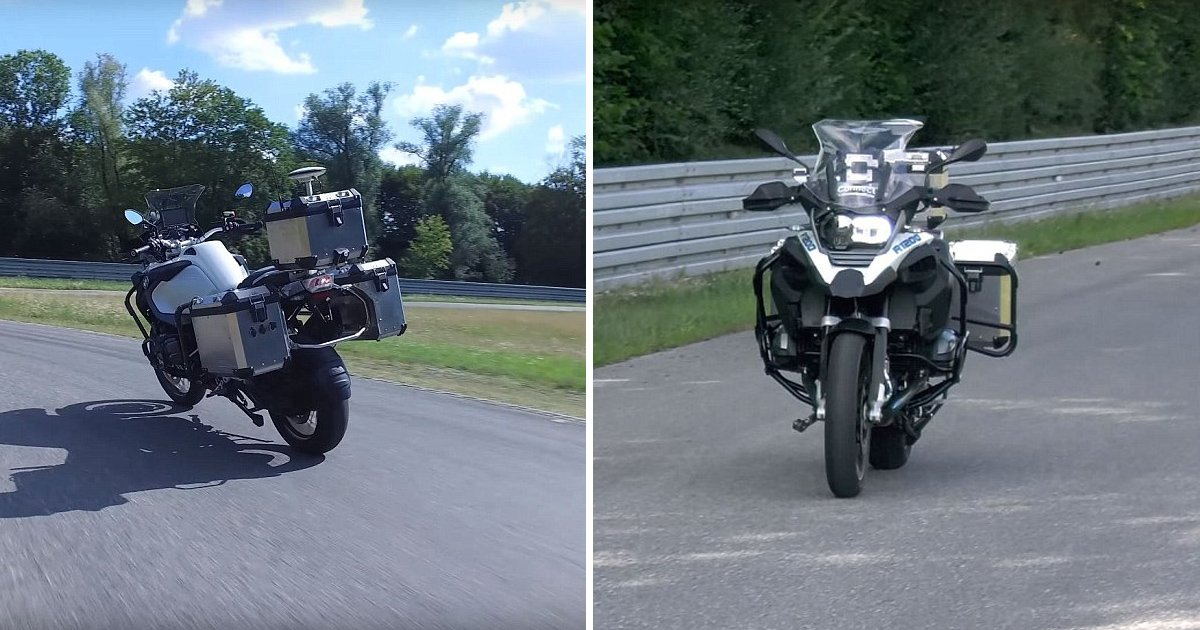 gagaaa.jpg?resize=636,358 - BMW Motorrad Unveils Autonomous Motorbike That Accelerates, Turns, And Brakes At Breakneck Speed Without Anyone Sat On Top
