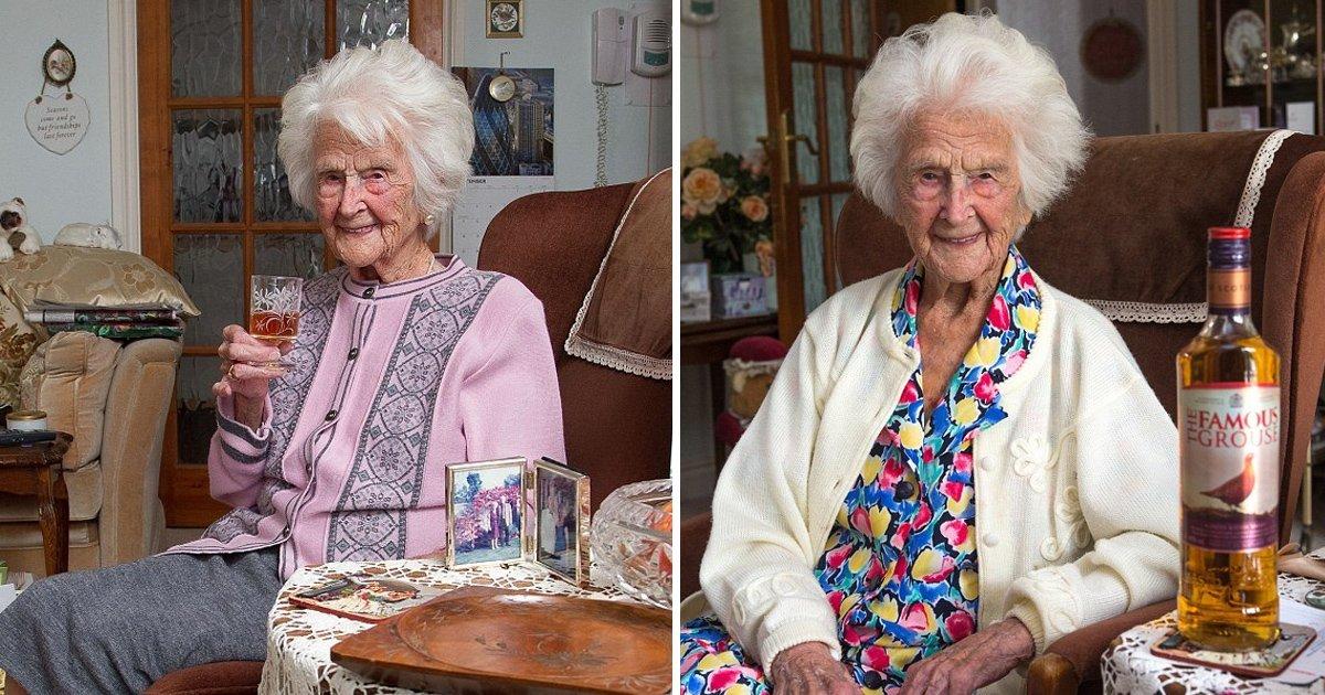 gagah.jpg?resize=1200,630 - Une femme britannique âgée de 112 ans partage le secret d'une si longue vie - Une goutte de whisky