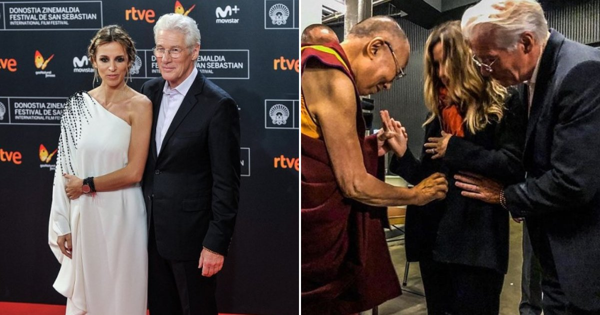 gere5.png?resize=732,290 - Actor Richard Gere And His New Wife Alejandra Silva Are Expecting Their First Child Together