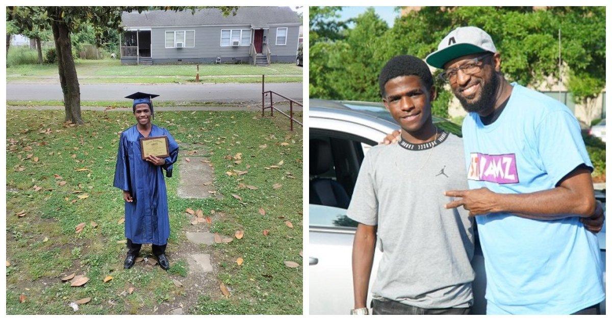 graduation.jpg?resize=412,232 - La photo d'un étudiant marchant en toge de remise de diplôme lui fait obtenir une nouvelle voiture après que la photo devienne virale