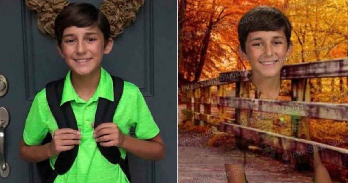 green shirt.jpg?resize=412,232 - Un enfant porte un t-shirt vert pour le jour de sa photo à l'école et les résultats sont hilarants!