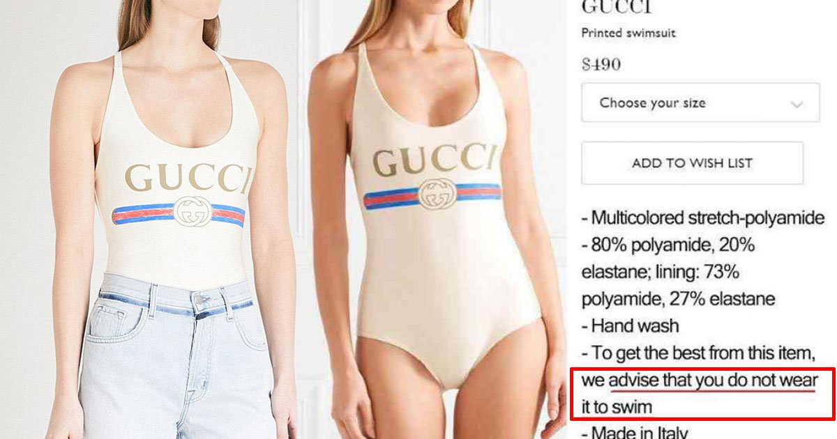 gucci swimsuit costing 380 sold out even though it cant be worn in a pool.jpg?resize=636,358 - Gucci Swimsuit That Costs $380 Is Sold Out Even Though It Can't Be Worn In The Pool