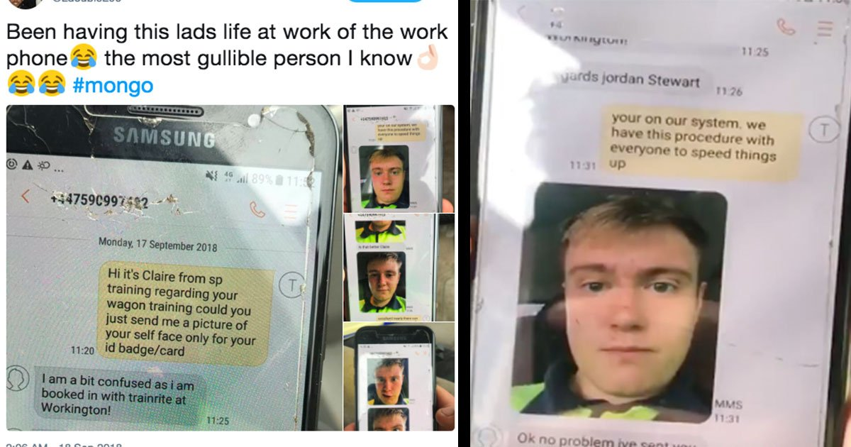 guy text colleague prank photos.jpg?resize=412,232 - Guy Plays A Prank With Colleague Text Him From Unknown Number And Gets Him To Send Humiliating Photos