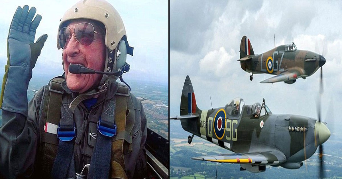 hero battle of britain pilot takes skies final time.jpg?resize=636,358 - Hero Battle Of Britain Pilot And One Of The Last Surviving Heroes Of 'The Few' Archie McInnes Takes To The Skies For The Final Time