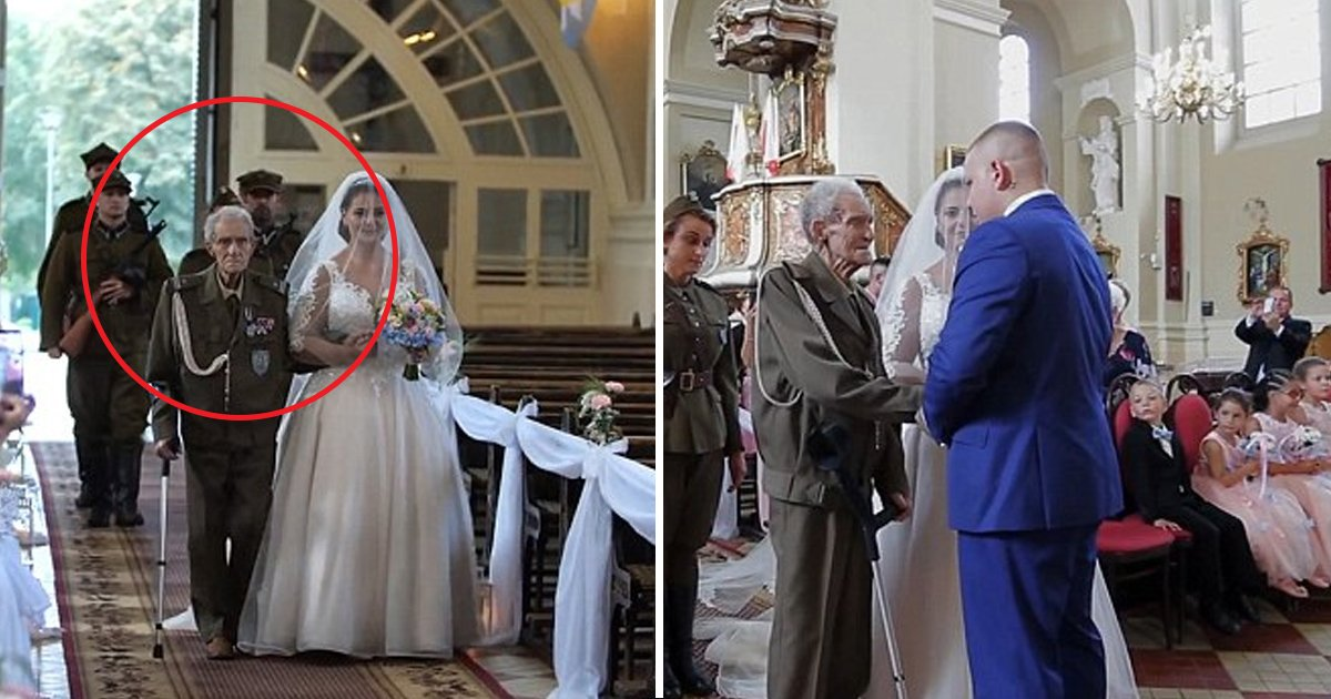 hhh 1.jpg?resize=1200,630 - WWII Hero, Dies at 94 Two Days After Walking His Granddaughter Down the Aisle in His Military Uniform