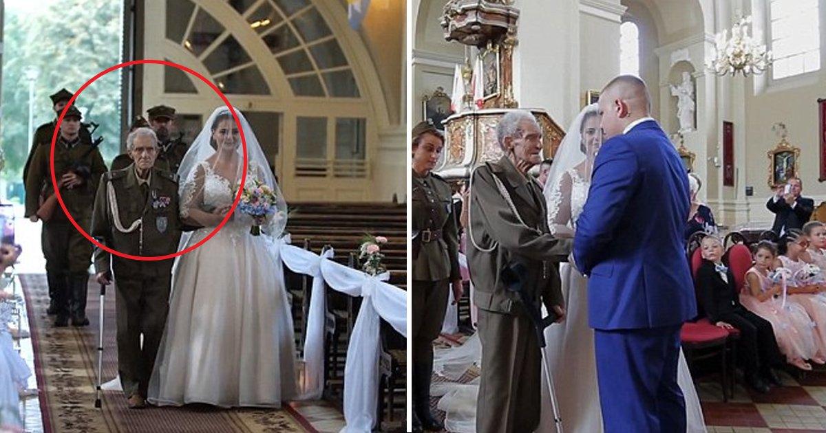 hhh 1.jpg?resize=636,358 - Un héros de la Seconde Guerre mondiale meurt à 94 ans deux jours après avoir conduit sa petite-fille à l'autel.