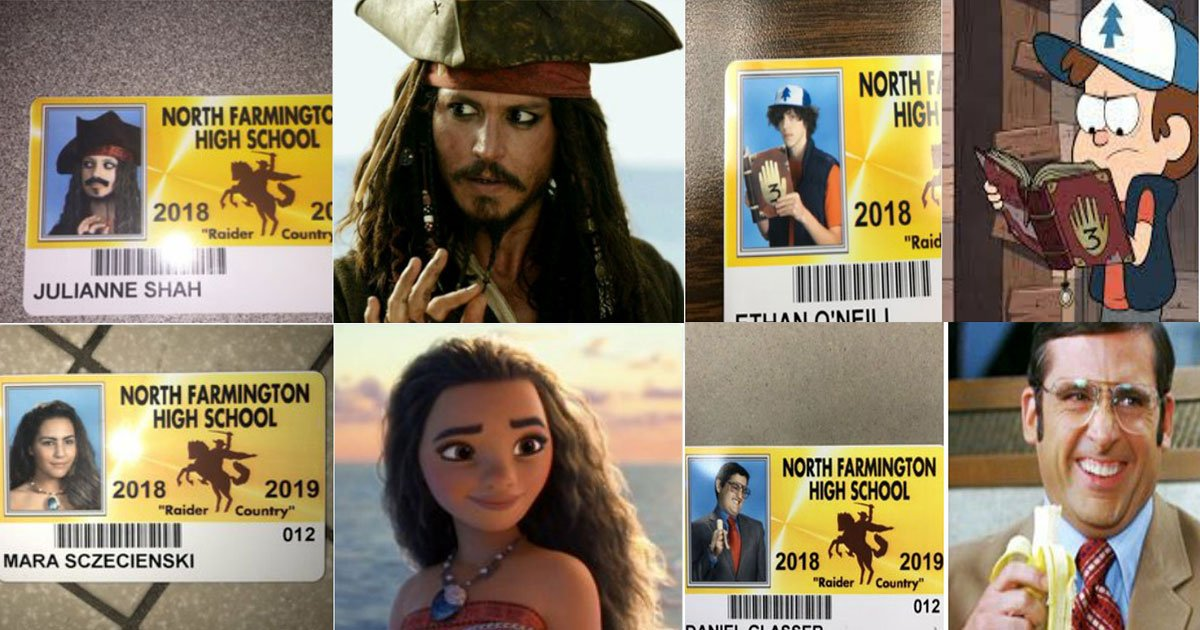 high school let seniors wear costume student id.jpg?resize=1200,630 - High School Allows Seniors To Wear Costumes For Their Student ID's, And Their Pictures Just Won The Internet