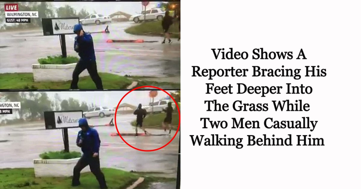 hurricane.jpg?resize=412,232 - Hilarious Video Shows A Weather Channel Reporter Fabricating The Severity Of Hurricane Florence