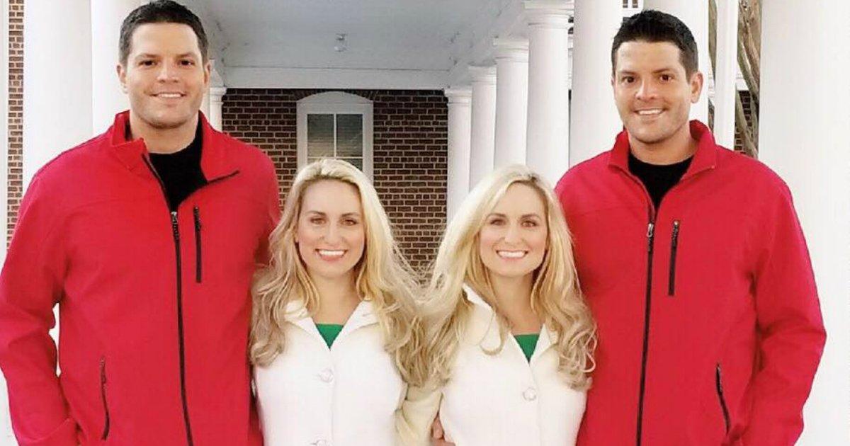 identical couple.jpg?resize=300,169 - Des soeurs jumelles rêvaient de se marier avec des frères jumeaux et elles l'ont fait !