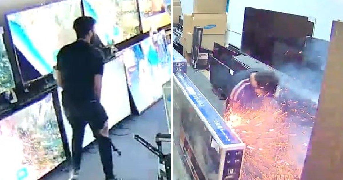 img 5b8b4bb25f6c5.png?resize=300,169 - 쇼핑 중 바지에서 '전자담배' 폭발해 다리에 화상 입은 남성 (영상)