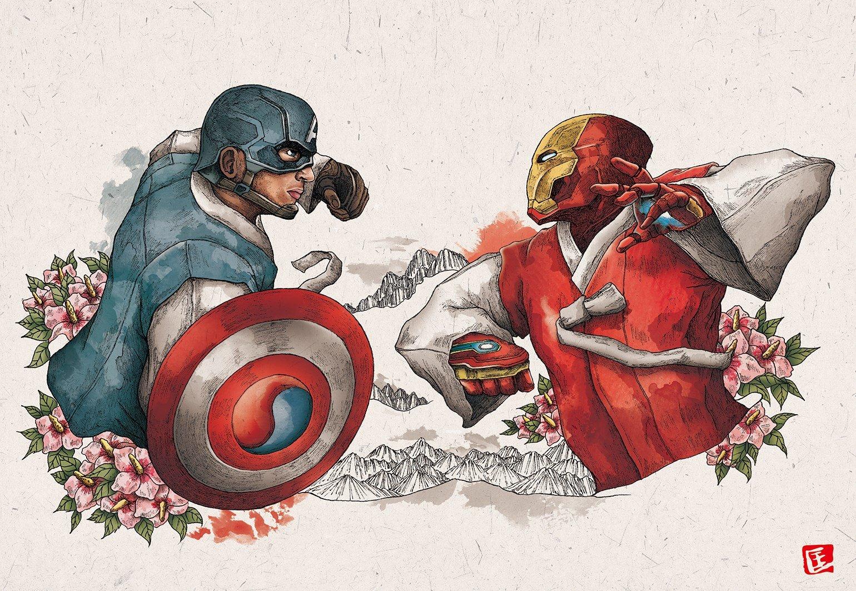 img 5b9049b117cc2.png?resize=648,365 - 「當復仇者聯盟變成韓國人...」藝術家超有創意,把Avengers全變歐巴!