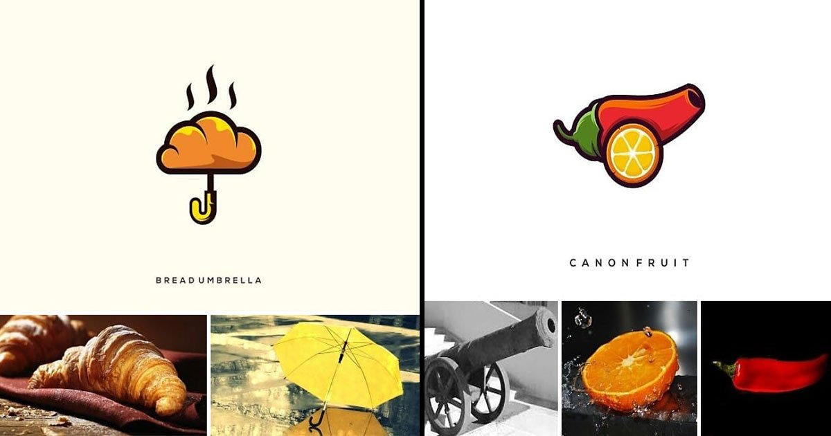 indonesian designer creat logo different objects.jpg?resize=636,358 - Indonesian Designer Created Logos With Two Totally Different Objects, The Result Will Surprise You