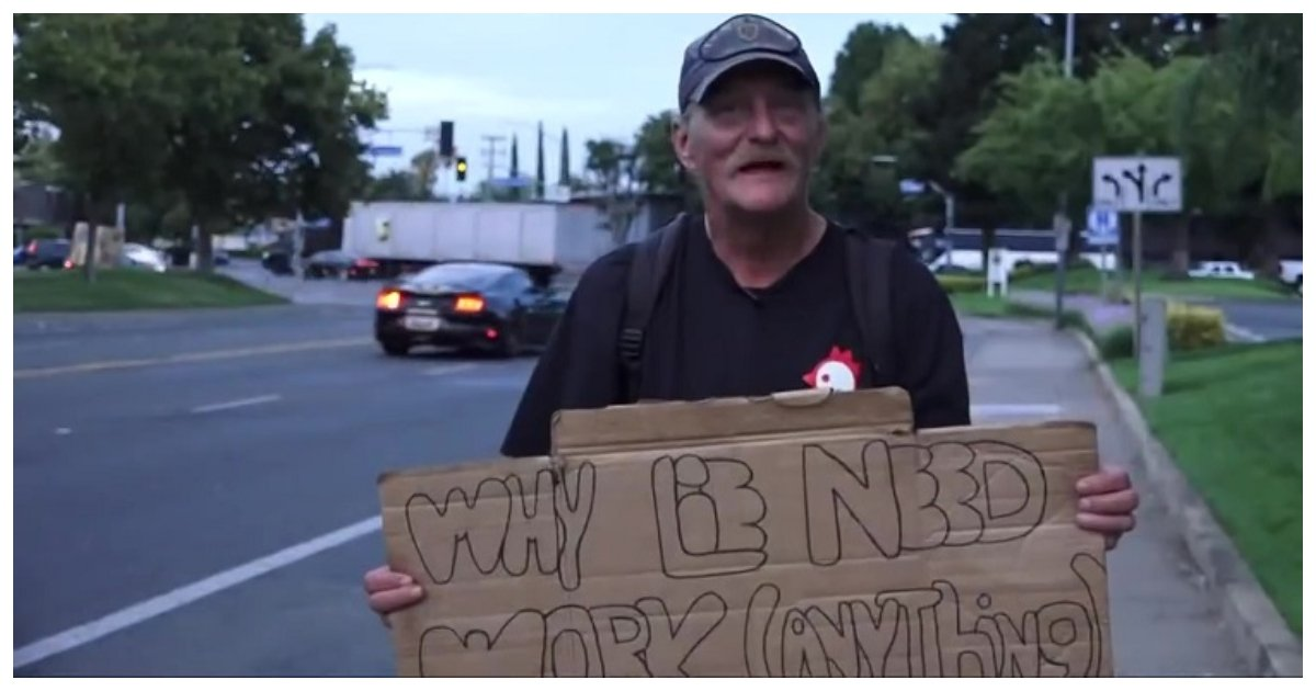 job.jpg?resize=1200,630 - Social Media Gave Him A Chance And This Homeless Veteran Made The Most Out Of His Shot