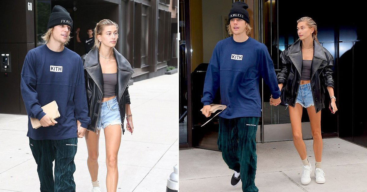 justin hailey.jpg?resize=636,358 - Hailey Baldwin Says She Is Not Married Yet After She Was Spotted With Justin Bieber At NYC Courthouse