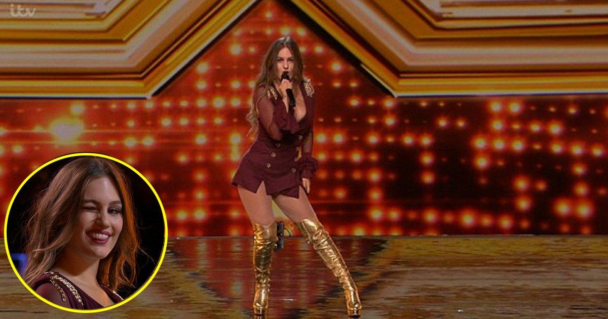 lll 1.jpg?resize=648,365 - Ayda Field olha feio para Robbie Williams ao pegar marido encarando concorrente no X Factor