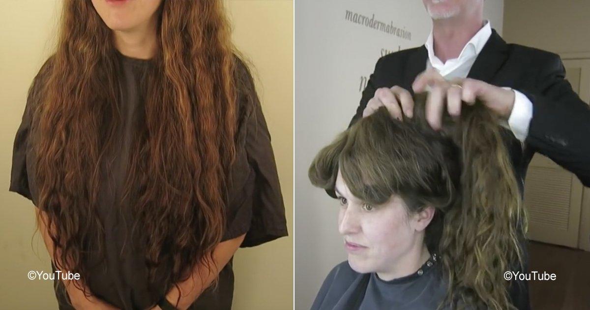 makeover 13.jpg?resize=412,232 - Esta mujer no cortó su cabellera durante años, ahora sorprendió a todos con su cambio radical