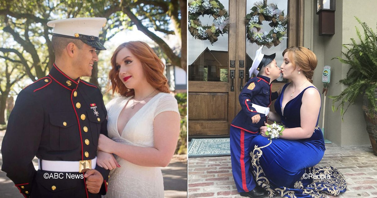 marine.jpg?resize=300,169 - El encantador hermanito de un oficial de la marina fue en su lugar a la graduación de su novia
