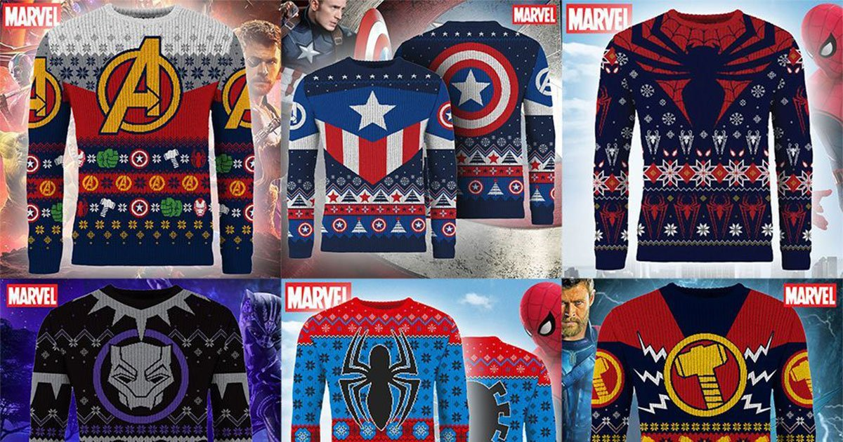 marvel releases ugly christmas sweaters for 2018.jpg?resize=412,232 - Marvel Releases Ugly Christmas Sweaters/Jumpers For 2018