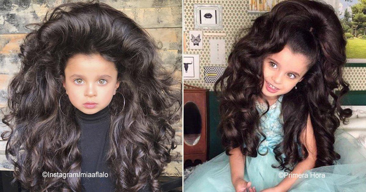 mia.jpg?resize=1200,630 - Ela tem cinco anos e já possui milhares de fãs por conta do seu cabelo exuberante. Suas fotos impactaram as redes