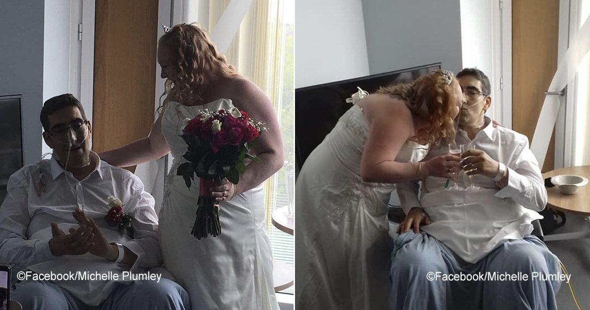 moribundo.jpg?resize=300,169 - La conmovedora historia de una pareja que se casó pero a las pocas horas él daba su último beso a su esposa