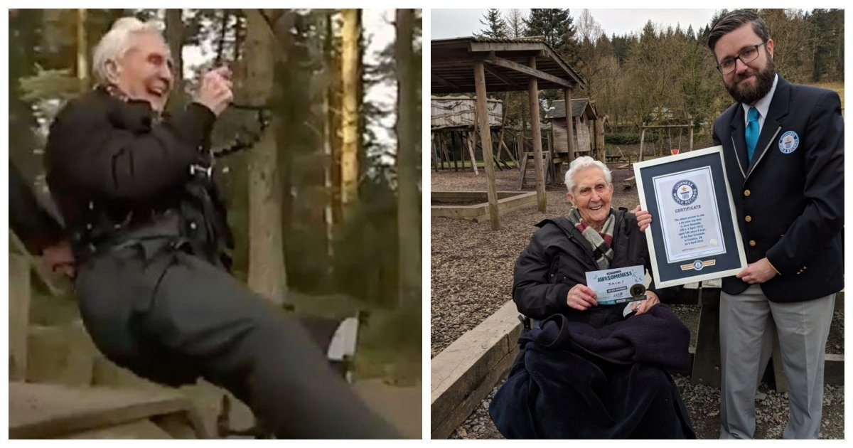 old man.jpg?resize=300,169 - This Man Celebrated His 106th Birthday By Becoming The Oldest Person To Ride A Zip-line