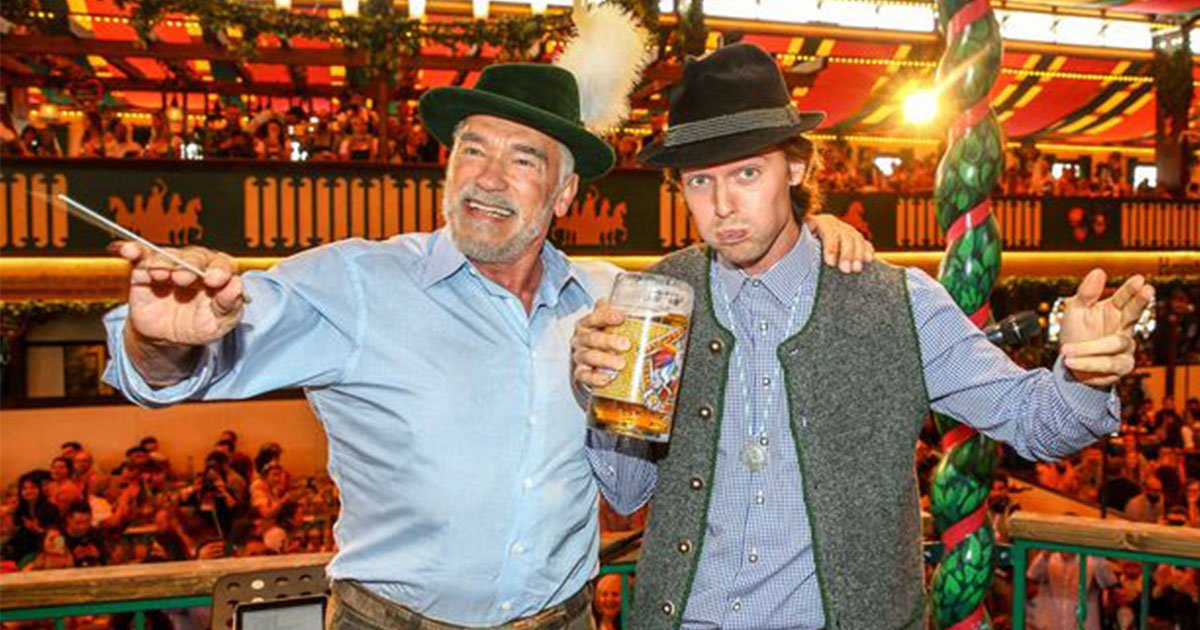patrick schwarzenegger celebrated his 25th birthday with his dad arnold and the duo had fun.jpg?resize=412,232 - Patrick Schwarzenegger Celebrated His 25th Birthday With His Dad Arnold