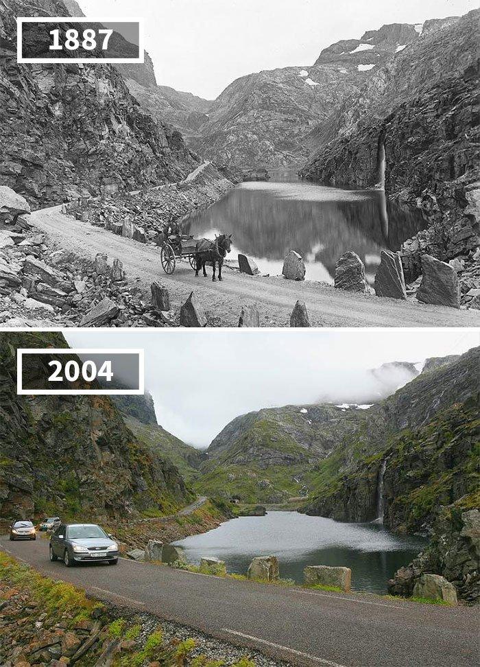 Seljestadjuvet, Odda, Norway, 1887 - 2014